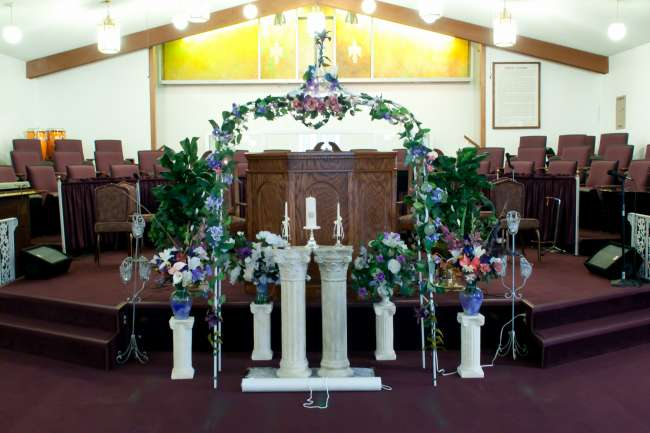 Church Decorated for the Wedding