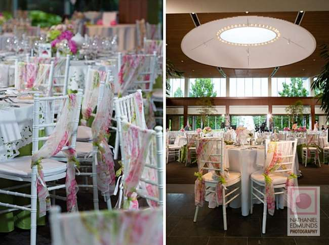 Spring inspired wedding reception