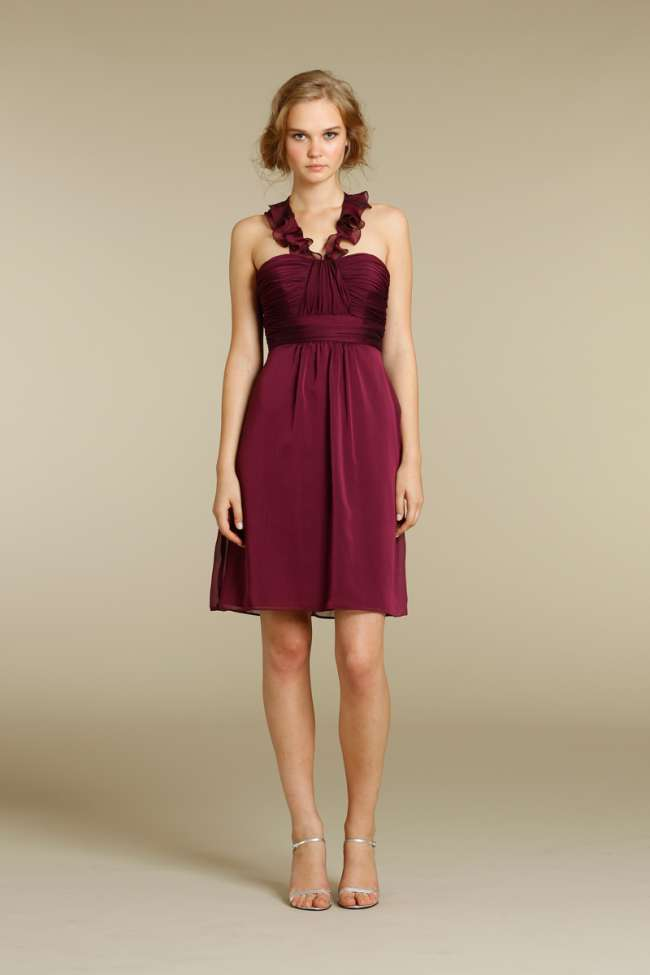 Alvina Valenta Maroon Bridesmaid Dress