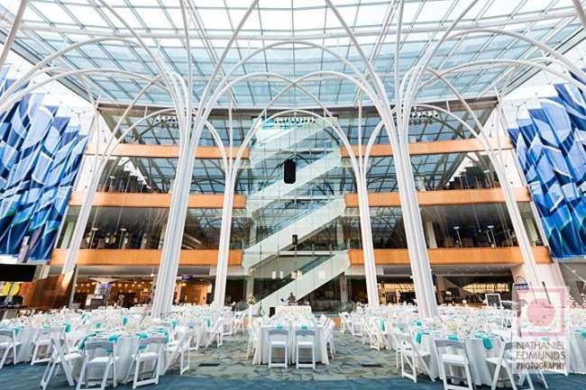 Library wedding reception