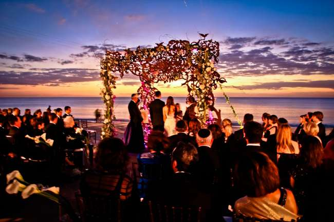 A beach ceremony in Naples, Florida