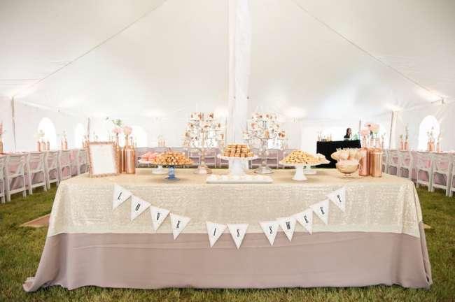 Charming dessert buffet table
