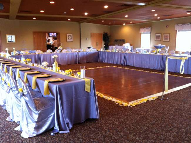 Yellow & Silver Reception