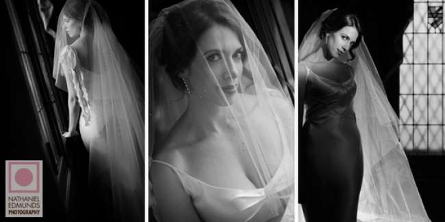 Black and white classic bride