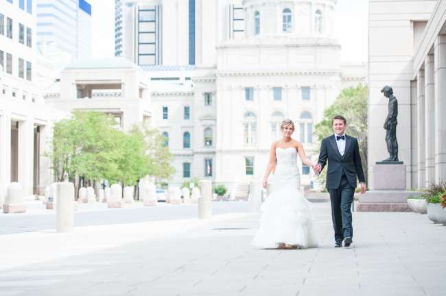 Downtown cityscape for wedding photos