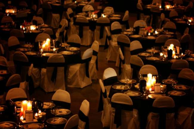 Candle-Lit Reception Tables