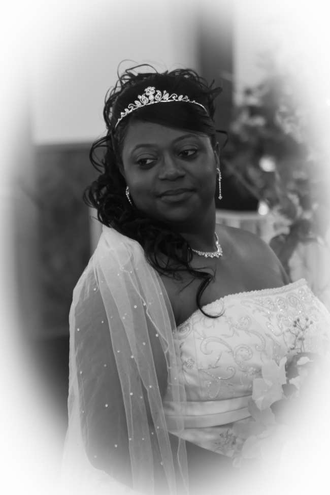 Bride in Tiara and Jeweled Veil