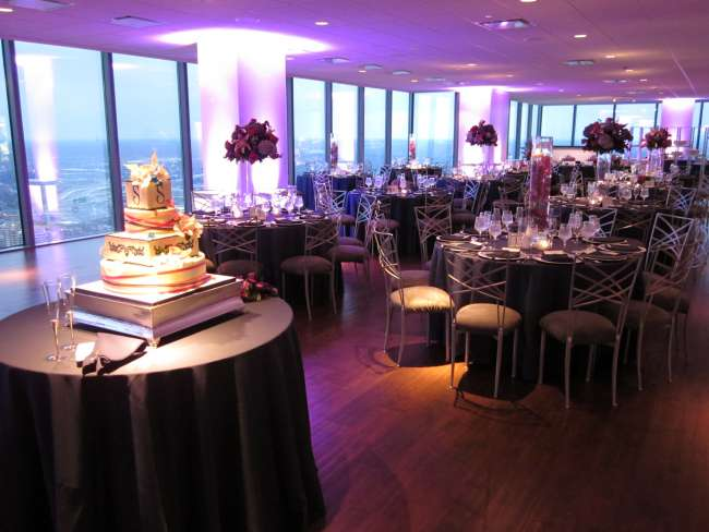 Purple LIghting and Tablescape