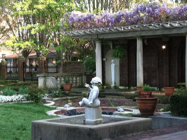 Wisteria Pergola And Fountains