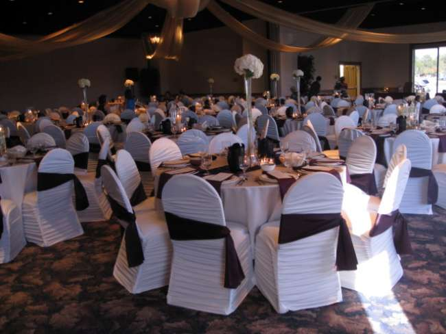 Elegant Maroon & White Reception
