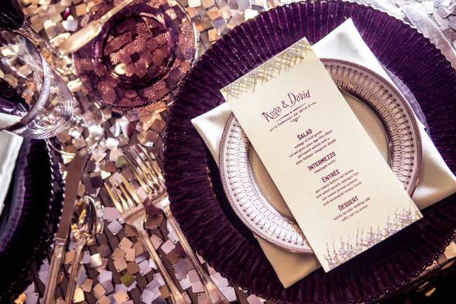 Glitzy Tablescape & Menu