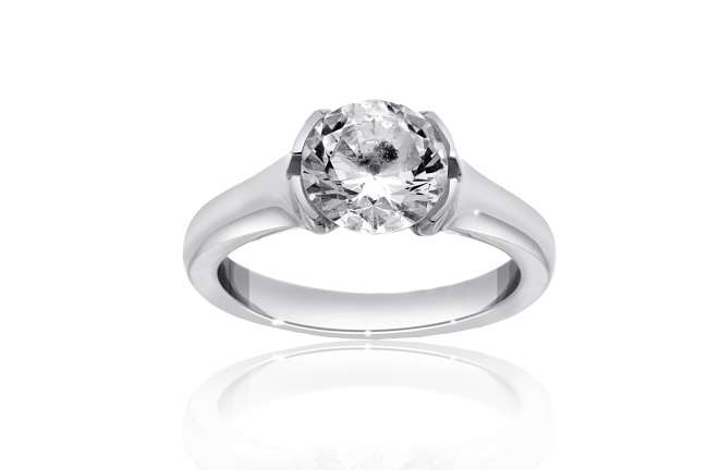 Round-Cut Engagement Ring