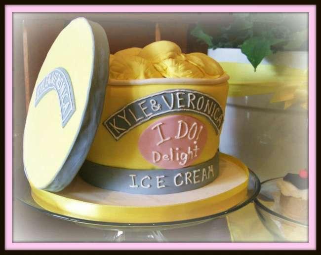 Ice cream themed wedding cake