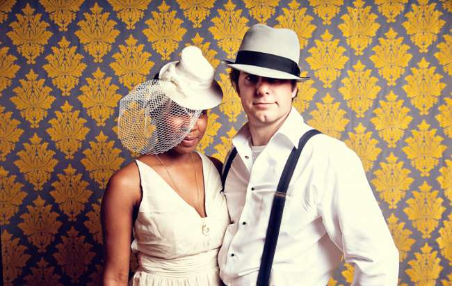 Fun Backdrop with Vintage Props