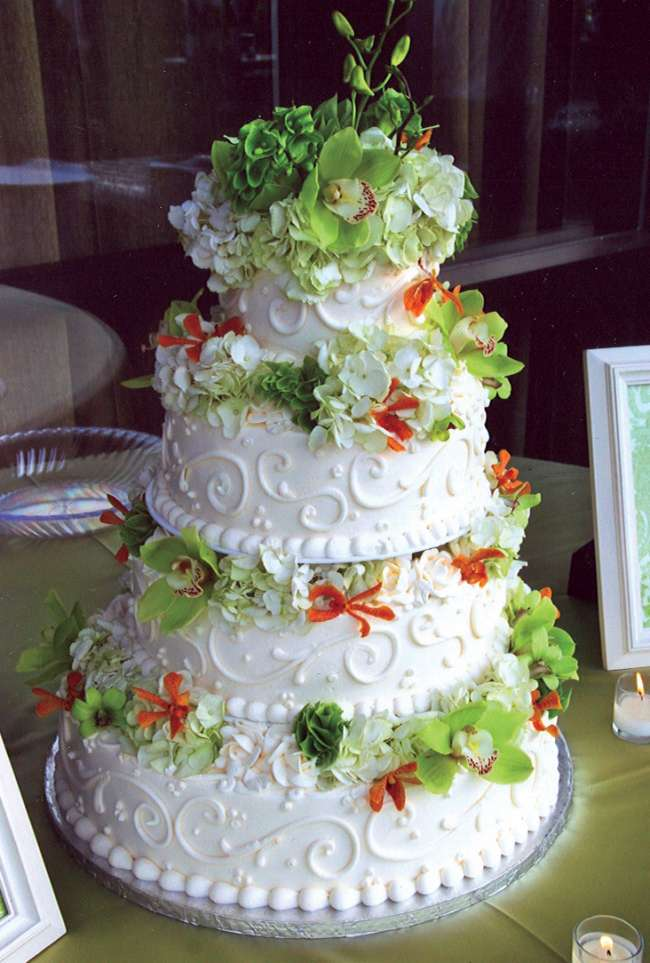 4-Tiered Buttercream Green Cake