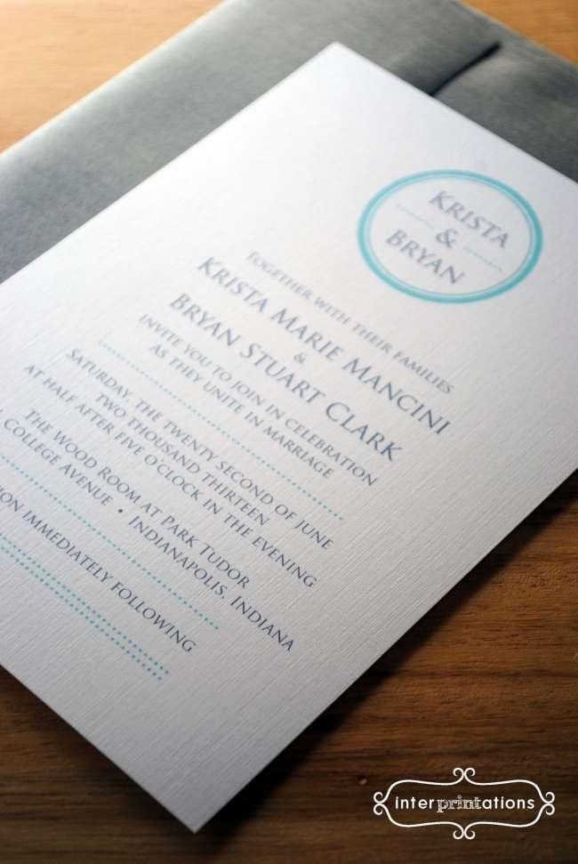 """""""Century"""" Wedding Invitations"""