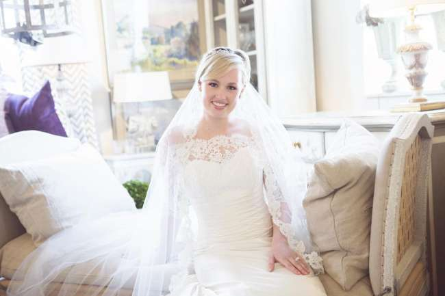 Radiant Bride With Lace Detail