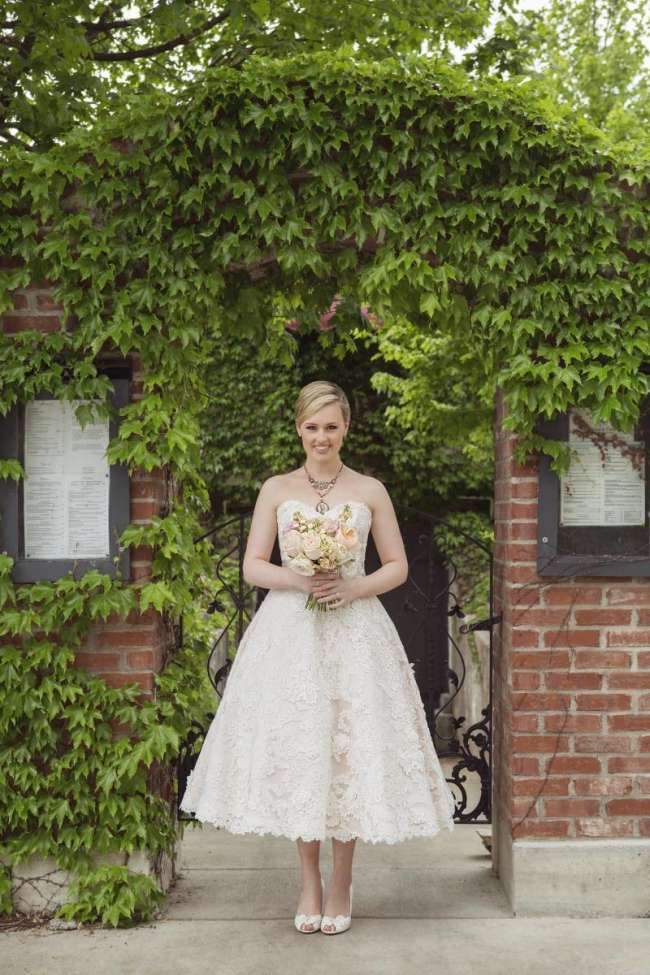 Modern, Organic Wedding Dress