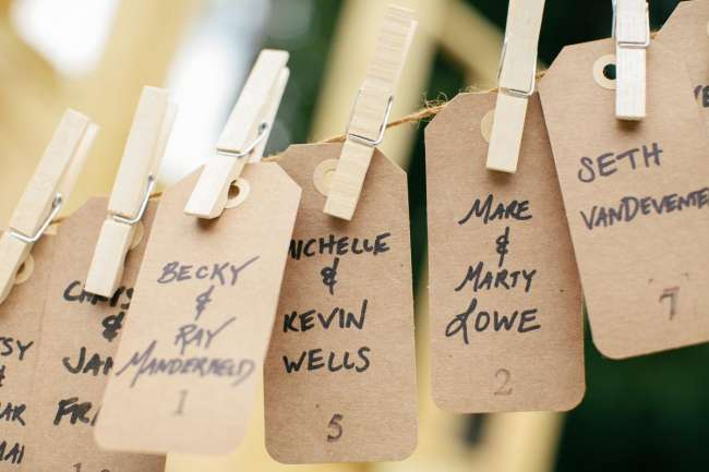 Rustic Place Card Display
