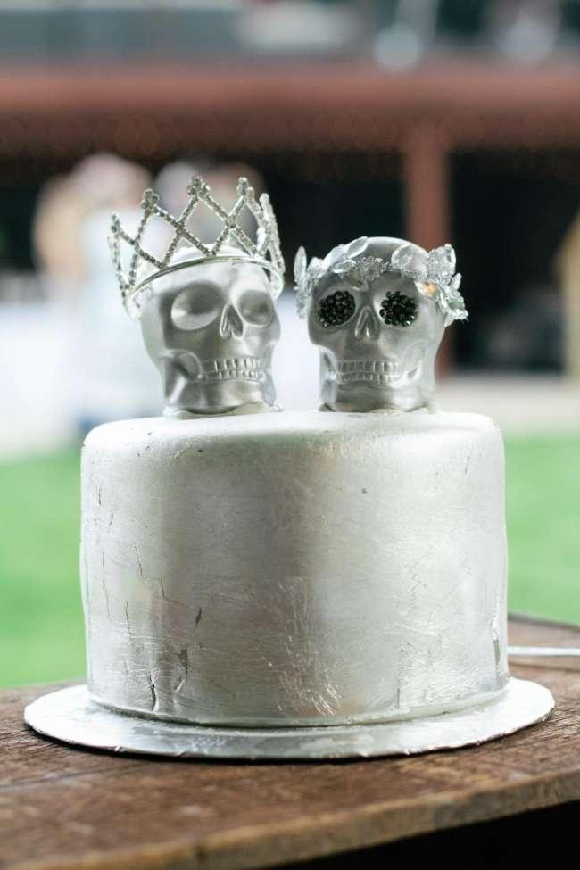 Silver Skull Cake