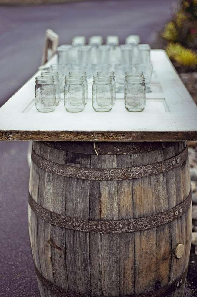 Mason Jar Drink Station