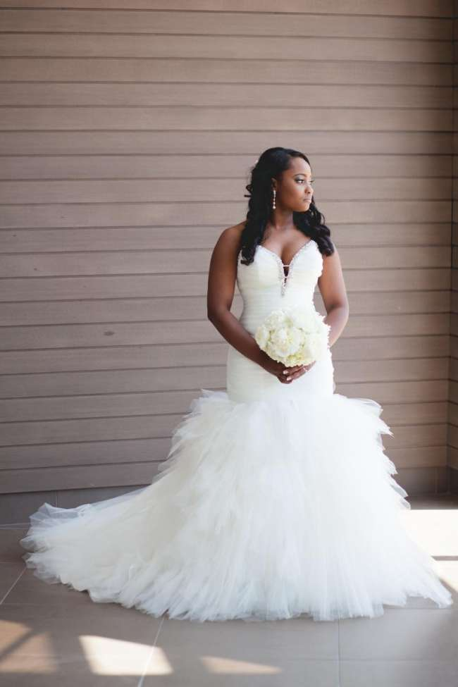 Strapless, Jeweled Neckline Wedding Dress