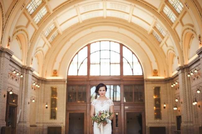 Bride in Baker Street Train Station