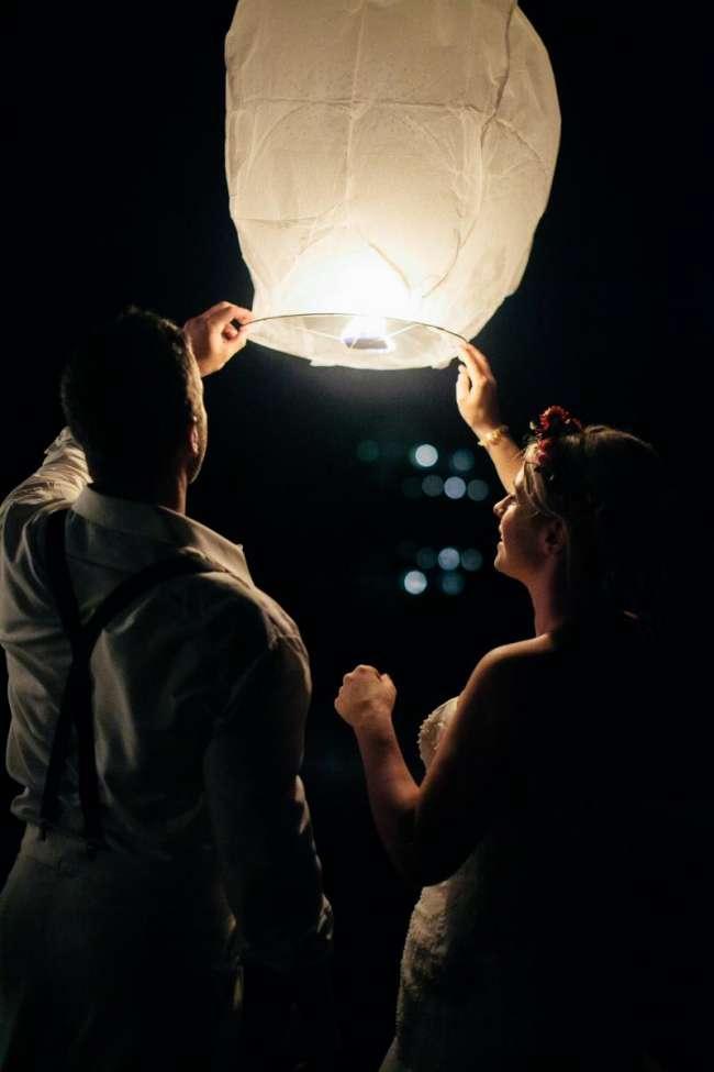 Couple Releasing Lantern