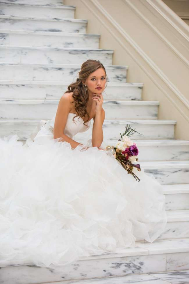 Elegant Bride with Dramatic Makeup
