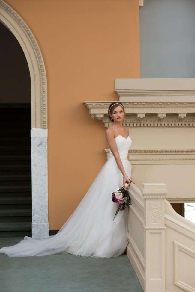 Tulle Fit and Flare Gown by Pronovias