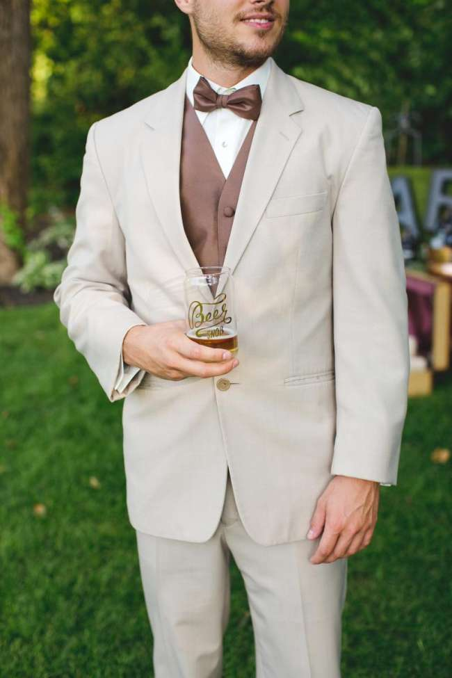 Groomsmen With Beer Snob Glass