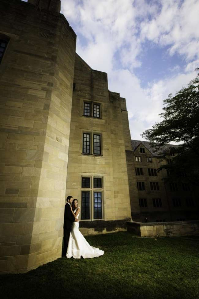 Bride & Groom at Indiana Memorial Union