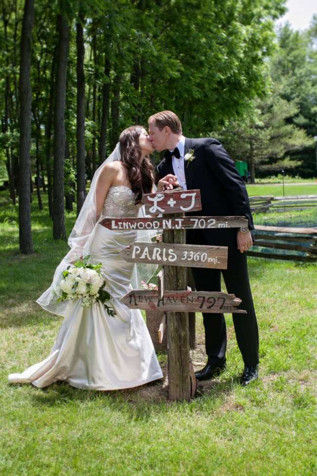 Rustic Wooden Direction Sign