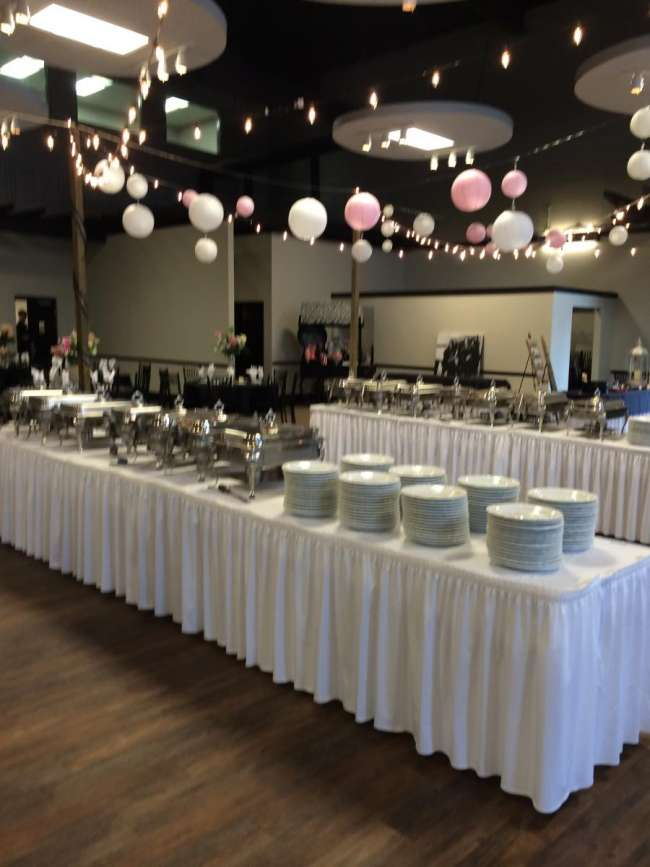 Buffet Set Up at Riverside Terrace | WeddingDay Magazine
