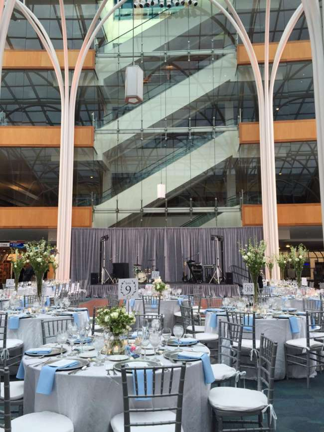 Indianapolis Public Library Weddings Atrium