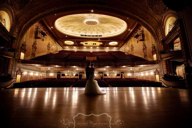 Wedding Couple on Morris Performing Arts Center stage