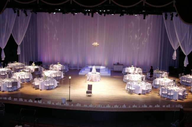 Morris Performing Arts Center Stage Wedding Reception