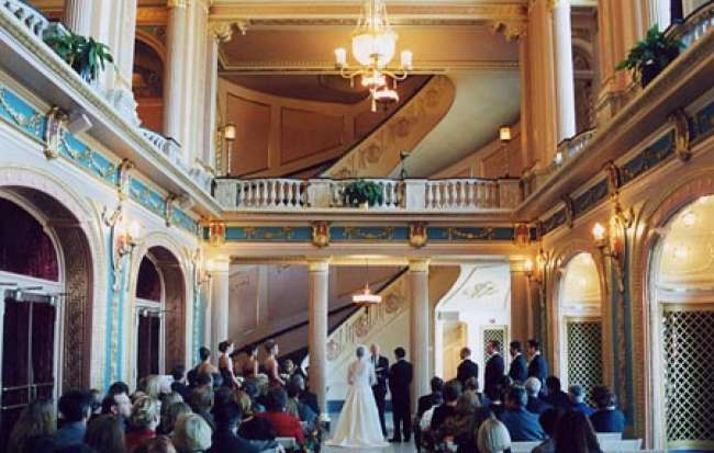 Wedding Ceremony in Morris Performing Arts Center Grand Lobby