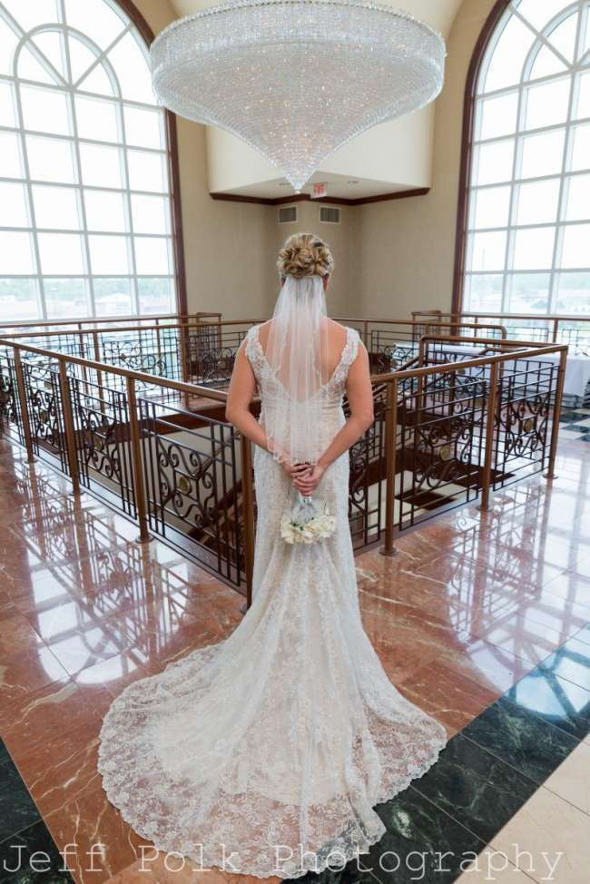 Bride with Chandelier