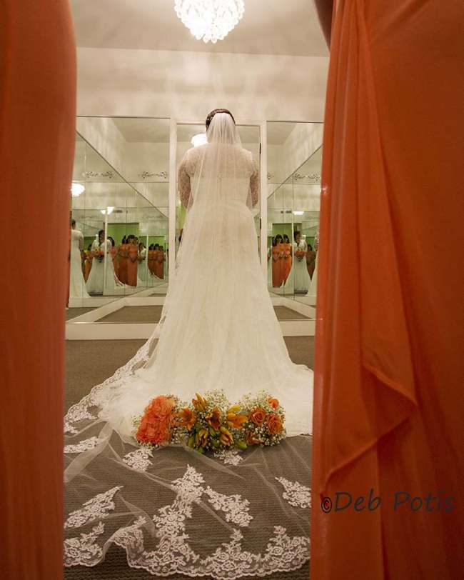 Wedding Dress reflection