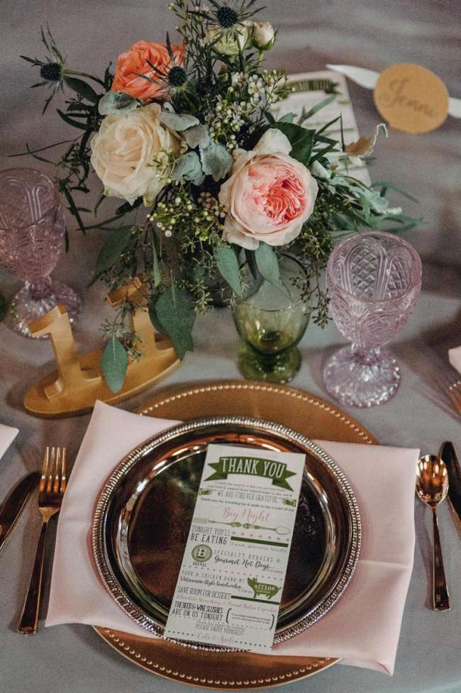 Rose Gold Blush u0026 Gold Table Setting & Rose Gold Blush u0026 Gold Table Setting | WeddingDay Magazine