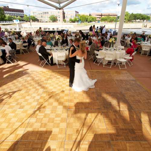 Wedding Reception on the Island at the Century Center