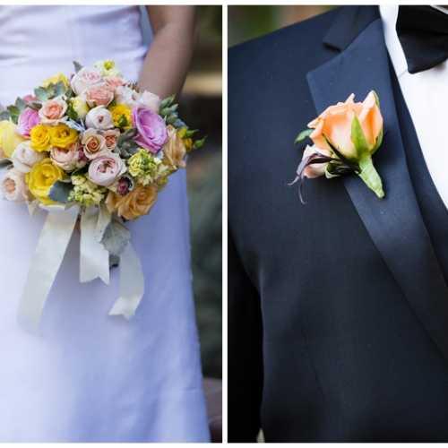 Bride's Bouquet & Groom's Boutonniere