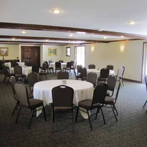 Banquet Room for 125 people connected to patio