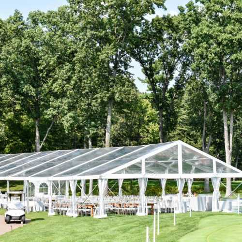 AAYS Clear Top Tented Wedding