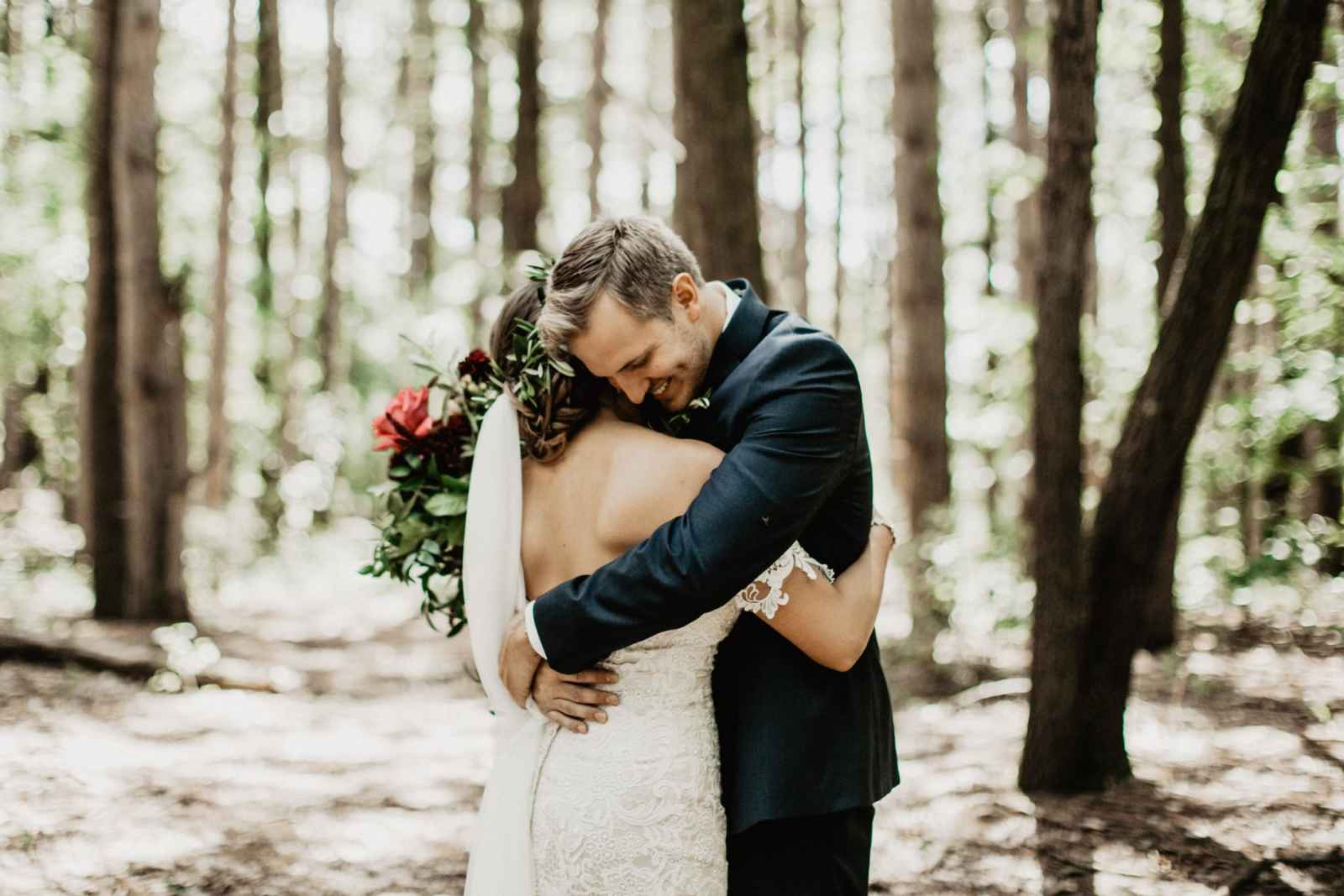 """1d71750390b2 When it came to the decor, bright florals were Courtney's starting point.  """"To me, there is nothing more striking than rich jewel tones in a bouquet,""""  ..."""